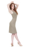 celadon pencil dress - Poema Tango Clothes: handmade luxury clothing for Argentine tango