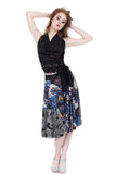 cerulean wing circle skirt - Poema Tango Clothes: handmade luxury clothing for Argentine tango