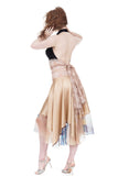 champagne ocean circle skirt - Poema Tango Clothes: handmade luxury clothing for Argentine tango