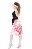 cherry blossoms draped skirt - Poema Tango Clothes: handmade luxury clothing for Argentine tango