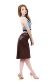 chocolate cherry embellished fluted skirt - Poema Tango Clothes: handmade luxury clothing for Argentine tango
