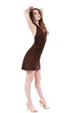 chocolate cherry halter dress - Poema Tango Clothes: handmade luxury clothing for Argentine tango