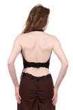 chocolate cherry wrap top - Poema Tango Clothes: handmade luxury clothing for Argentine tango