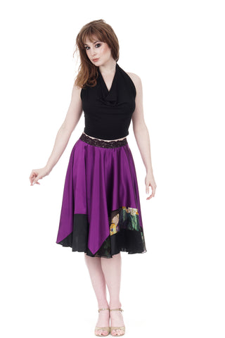 chromatic orchid silk skirt