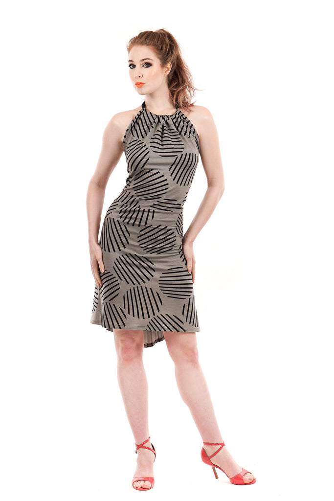 circle line dress - Poema Tango Clothes: handmade luxury clothing for Argentine tango
