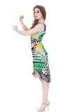 color geometry dress - Poema Tango Clothes: handmade luxury clothing for Argentine tango