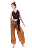 copper sable silk tango trousers - Poema Tango Clothes: handmade luxury clothing for Argentine tango