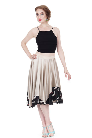 crane-dipped prosecco silk skirt