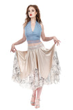 cream and sequins circle skirt - Poema Tango Clothes: handmade luxury clothing for Argentine tango