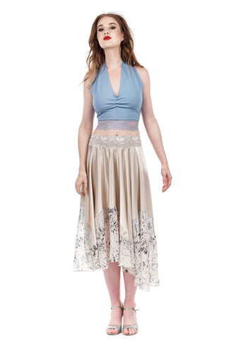 cream and sequins circle skirt