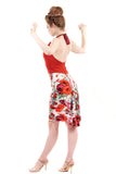 crimson & milkflower dress - Poema Tango Clothes: handmade luxury clothing for Argentine tango