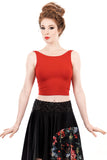 crimson dance tank - Poema Tango Clothes: handmade luxury clothing for Argentine tango