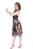 crushed ink blossom circle skirt - Poema Tango Clothes: handmade luxury clothing for Argentine tango