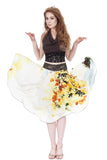 daffodil ink asymmetric skirt - Poema Tango Clothes: handmade luxury clothing for Argentine tango