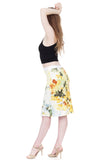 daffodil ink pencil skirt - Poema Tango Clothes: handmade luxury clothing for Argentine tango