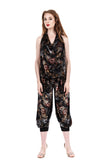 dark dream floral burnout velvet tango pants - Poema Tango Clothes: handmade luxury clothing for Argentine tango