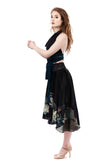 dark lotus circle skirt - Poema Tango Clothes: handmade luxury clothing for Argentine tango