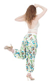 deco vines silk tango trousers - Poema Tango Clothes: handmade luxury clothing for Argentine tango