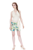 deco vines silk tap shorts - Poema Tango Clothes: handmade luxury clothing for Argentine tango