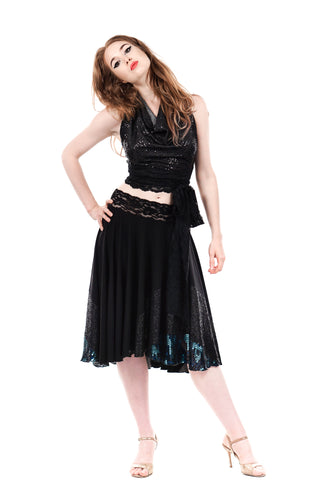 deep sea sequins skirt