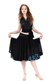 deep sea sequins skirt - Poema Tango Clothes: handmade luxury clothing for Argentine tango