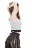 delicate mint & plum dance tank - Poema Tango Clothes: handmade luxury clothing for Argentine tango