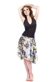 delphinium silk skirt - Poema Tango Clothes: handmade luxury clothing for Argentine tango