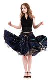 digital dream circle skirt - Poema Tango Clothes: handmade luxury clothing for Argentine tango