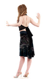 dream city velvet fluted skirt - Poema Tango Clothes: handmade luxury clothing for Argentine tango