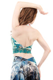 dreamscape signature halter - Poema Tango Clothes: handmade luxury clothing for Argentine tango