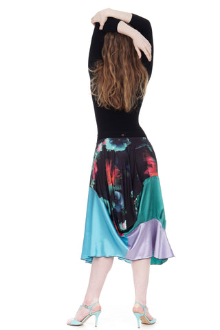 duskbloom & color silks bustled skirt - CLEARANCE