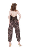 dusky block print tango trousers - Poema Tango Clothes: handmade luxury clothing for Argentine tango
