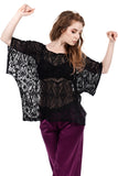 embroidered silk chiffon draped top - Poema Tango Clothes: handmade luxury clothing for Argentine tango