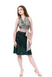 emerald sequin fluted skirt - Poema Tango Clothes: handmade luxury clothing for Argentine tango