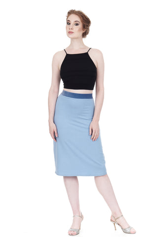 faerie blue pencil skirt - CLEARANCE