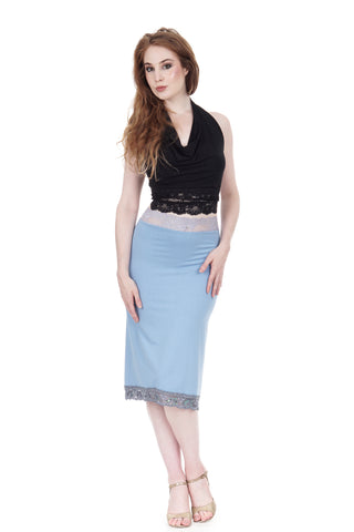 faerie blue ruched skirt