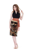 fan fan velvet ruched skirt - Poema Tango Clothes: handmade luxury clothing for Argentine tango