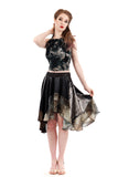 feathergloss circle skirt - Poema Tango Clothes: handmade luxury clothing for Argentine tango