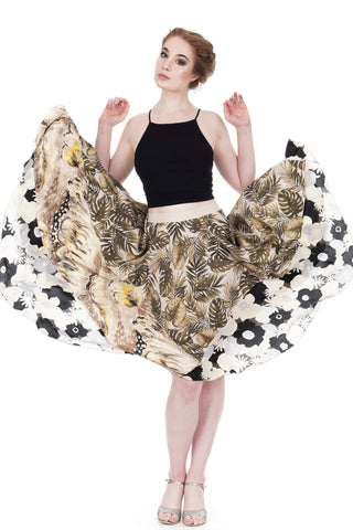 fern, feather & flower skirt