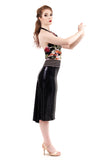 fine night spangle high-waisted skirt - Poema Tango Clothes: handmade luxury clothing for Argentine tango