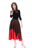 fire-dipped sable silk skirt - Poema Tango Clothes: handmade luxury clothing for Argentine tango