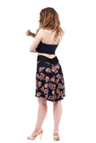 fleur de paris fluted skirt - Poema Tango Clothes: handmade luxury clothing for Argentine tango
