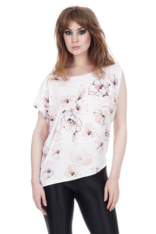 flower drawing asymmetric top