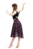 flower festival chiffon skirt - Poema Tango Clothes: handmade luxury clothing for Argentine tango
