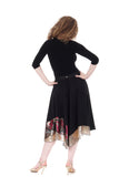 fluid ink silk & sequin skirt - Poema Tango Clothes: handmade luxury clothing for Argentine tango