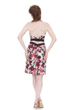 flushed roses ruched skirt - Poema Tango Clothes: handmade luxury clothing for Argentine tango
