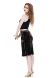 forest velvet pencil skirt - Poema Tango Clothes: handmade luxury clothing for Argentine tango