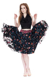 geometric florals silk skirt - Poema Tango Clothes: handmade luxury clothing for Argentine tango
