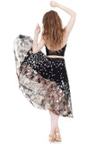 gilded leaves silk skirt - Poema Tango Clothes: handmade luxury clothing for Argentine tango