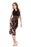 gilt and abstract ruched skirt - Poema Tango Clothes: handmade luxury clothing for Argentine tango